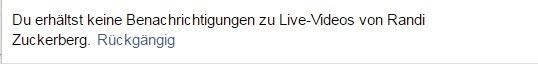 Facebook Live Benachrichtigung Ausschalten - Du erhältst keine Benachrichtigung mehr